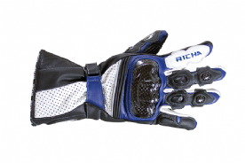 Richa Ravine Leather Summer Gloves Blue